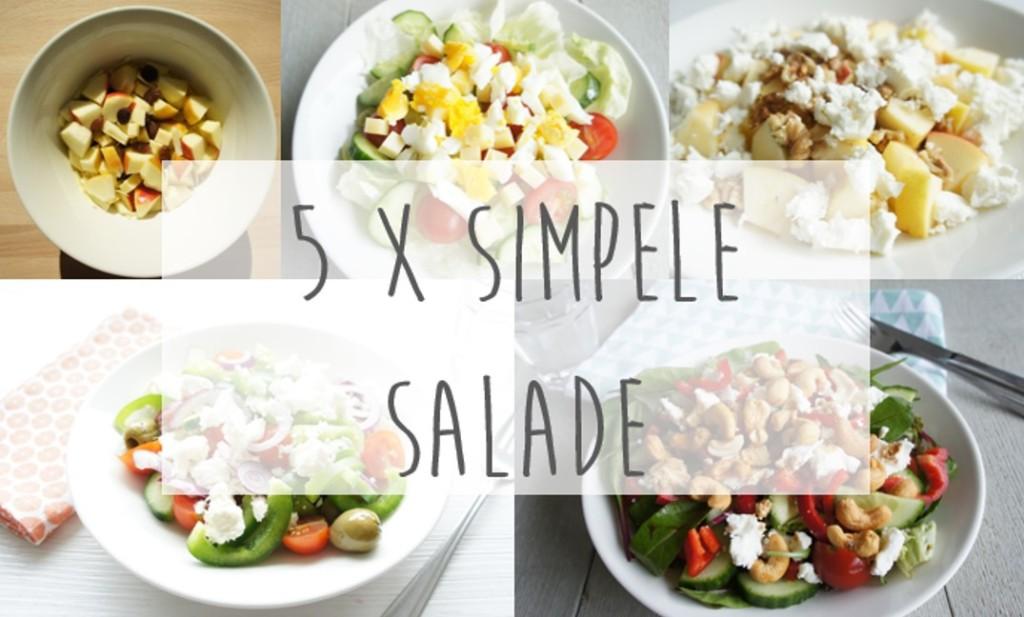 5 x simpele salade