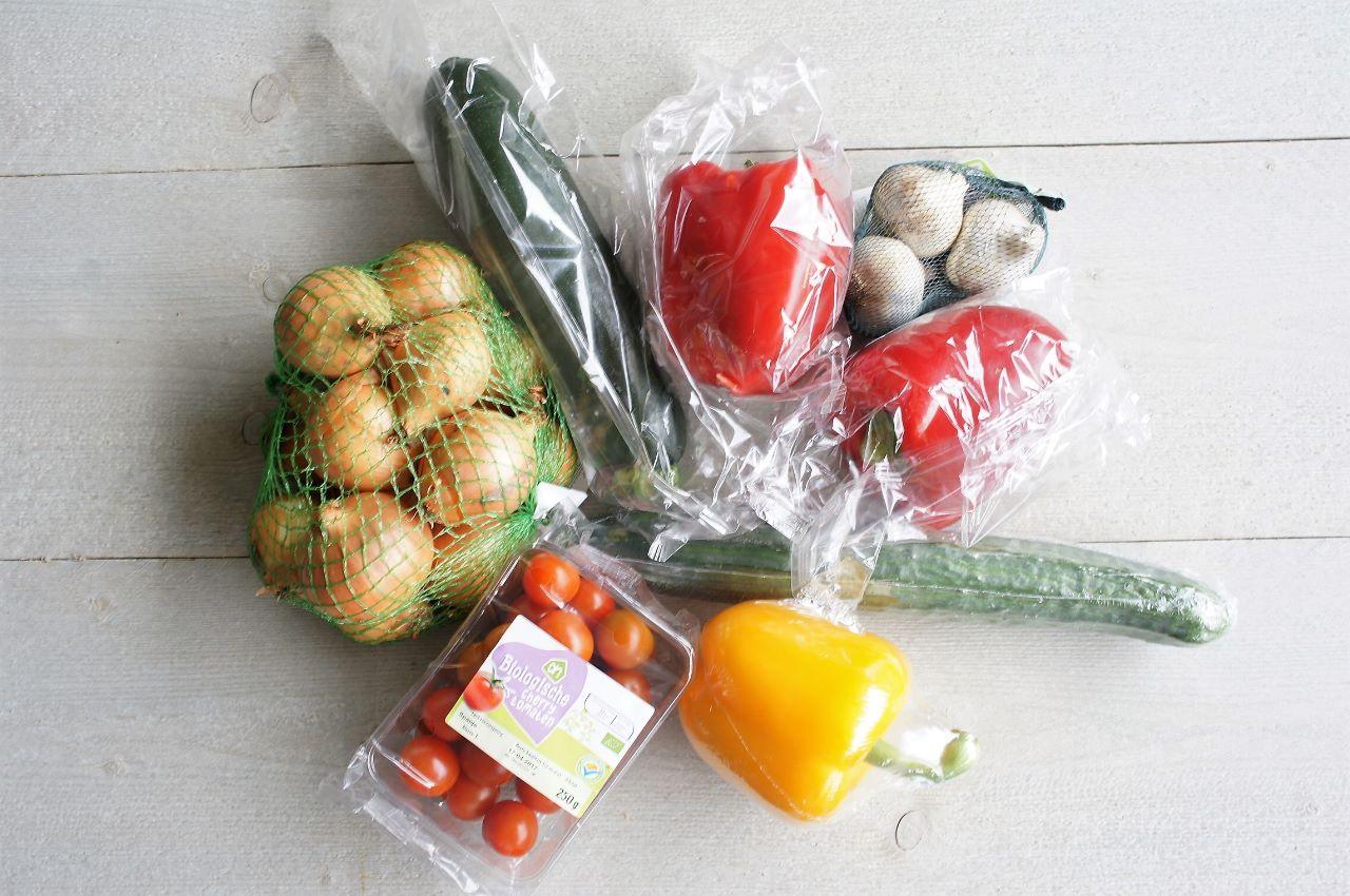 minder plastic in de supermarkt